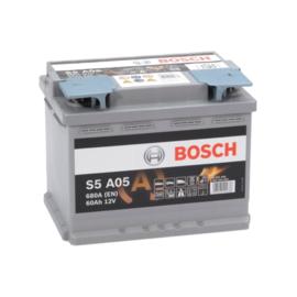 BOSCH S5A05 auto start-stop accu 12V 60Ah