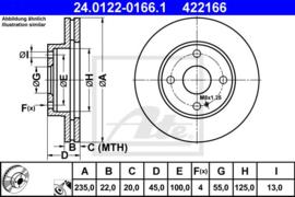 Remschijven set Mazda 323/323F/323C/323P/Demio