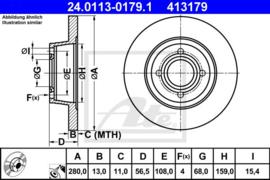 Remschijven set Audio 80(B4)/80 Avant (B4)