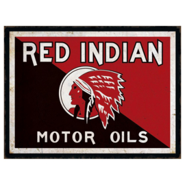 Metal sign Red Indian