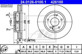 Remschijven  set Citroen XM/XM Break/605