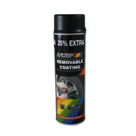 MOTIP SPRAYPLAST  verwijderbare lak zwart mat 500ml