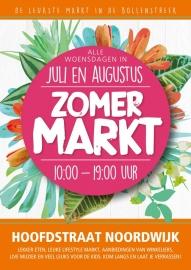 4x | Zomermarkt (NOV lid) | Grondplaats 3 meter | Noordwijk aan Zee | Hoofdstraat