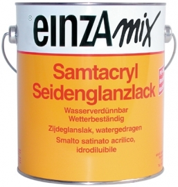 6 * 0,5 liter - Samtacryl Seidenglanzlack - basis 1