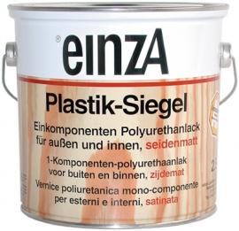 6 * 0,25 Plastik-Siegel - Seidenmatt farblos