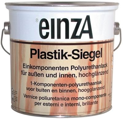 6 * 0,75 Plastik-Siegel - Hochglanzend farblos