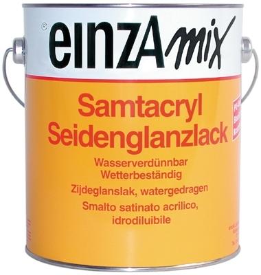 6 * 1 liter - Samtacryl Seidenglanzlack - basis 3