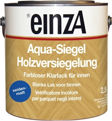 2 * 2,5 Aqua Siegel PU - Seidenmatt farblos