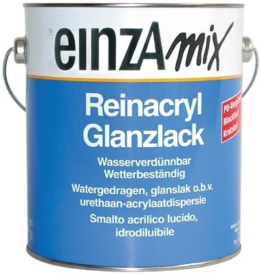 6 * 1 liter - Reinacryl Glanzlack - basis 3