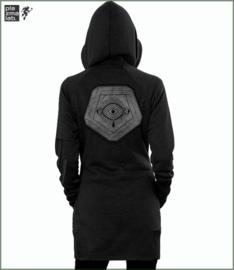 Infinity hood vest long black