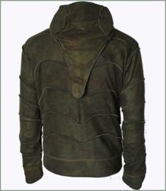 Panel jacket green tie dye