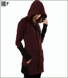 Infinity hood vest long bordeaux