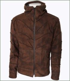 Panel jacket brown tie dye