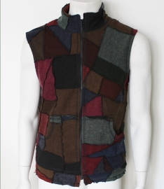 Patchwork bodyvest brown/red mix