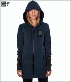 Infinity hood vest long blue