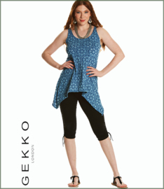 Pixie Burn Out Top blue