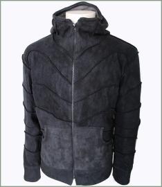 Panel jacket dark blue tie dye