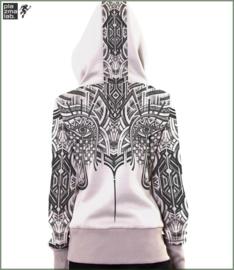 Teardrop hood vest white