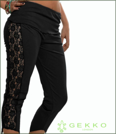 Lace Capri leggings black