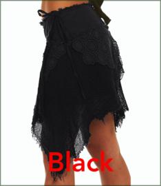 Cyber Punk wrap-skirt black