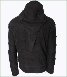Panel jacket black tie dye