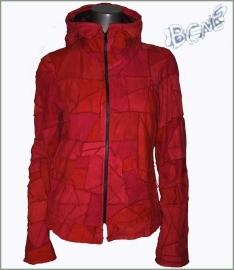 Tie dye patchwork jacket