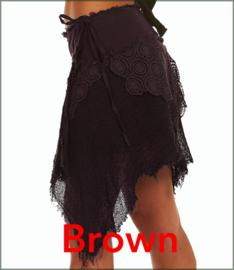 Cyber Punk wrap-skirt brown