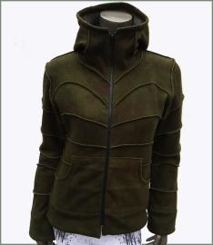 Fleecy Tie Dye winter jacket green