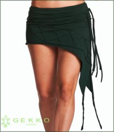 Leaf mini-skirt green