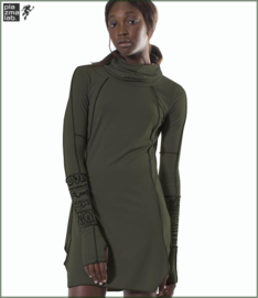 Esoteric collar Tunic olive