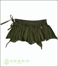 Hamsa wrap mini-skirt