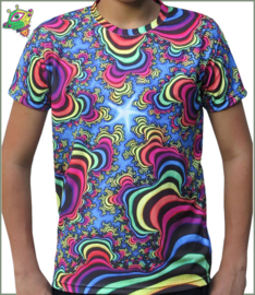 Rainbow Valley Fractal T-shirt
