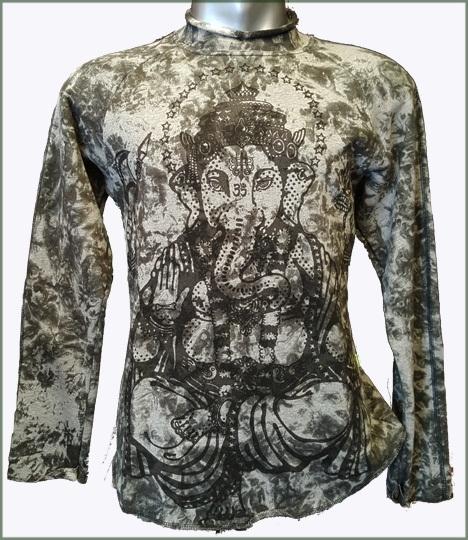 Ganesha Tie Dye sweater  grey melange