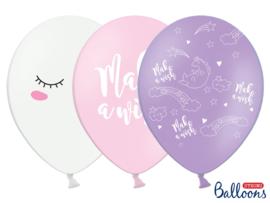 Unicorn mix ballonnen (6st)