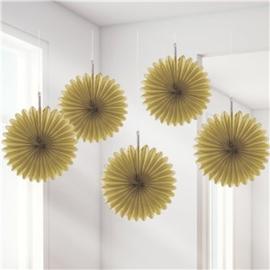 Mini fans goud (5st)