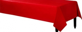 Tablecover plastic red