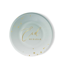 Paper plates Eid mint green (6pcs)