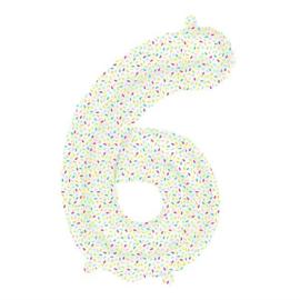 Foil ballon confetti 6 (40cm)