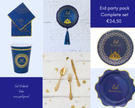 Eid feest set blauw/goud