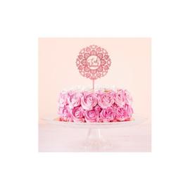 Cake topper desert rose acrylic pink