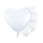 Hart ballonnen wit (8st)