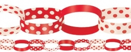 DIY paper chain red polka dot