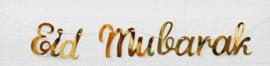 DIY banner Eid Mubarak gold foil