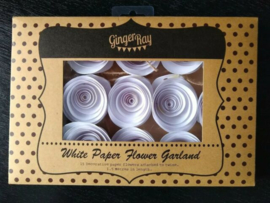 Paper roses garland white