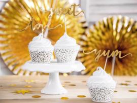 Cupcake wrapper white lace (6pcs)