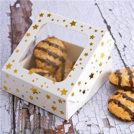 Snack boxes golden stars (3pcs)