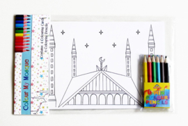 Coloring set mosque