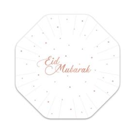 Papieren bordjes Eid rose gold (8st)