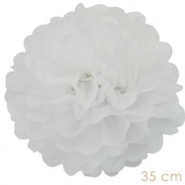 Pompom wit 35cm