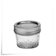 Ball quilted crystal jelly 4oz R/M